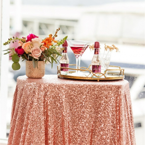 50'×80'丨Sequin Tablecloth HighQuality For Wedding Party Decoration