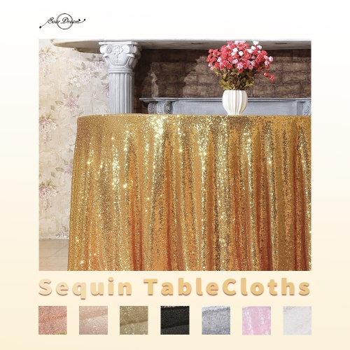 Round120' 丨Sequin Tablecloth with 16Colors