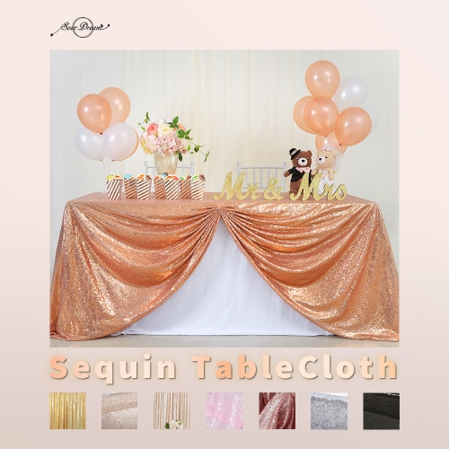 90'×156'丨Sequin Tablecloths With 17 Colors