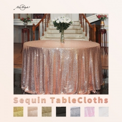 Round132'Sequin Tablecloth with 15Colors