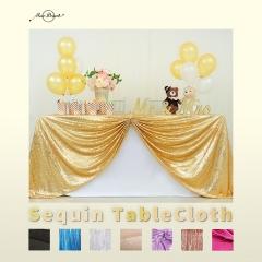 90'×132'丨Sequin Tablecloths With 18 Colors