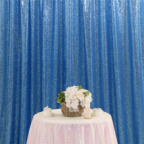 8ftx8ft Light Blue Sequin Backdrop