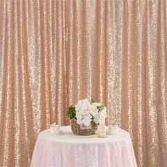 8ftx8ft Rose Gold Sequin Backdrop