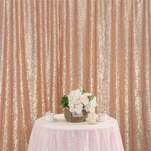 8ftx8ft Rose Gold Sequin Backdrop