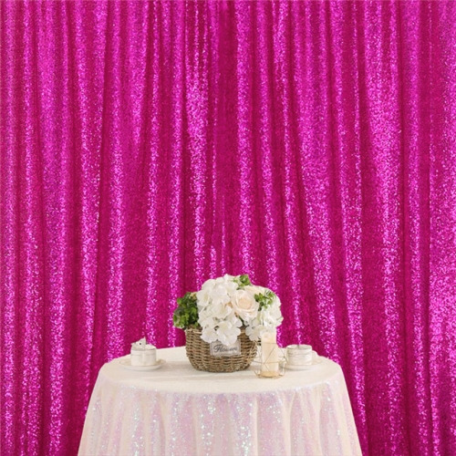 8ftx8ft Fuchsia Sequin Backdrop