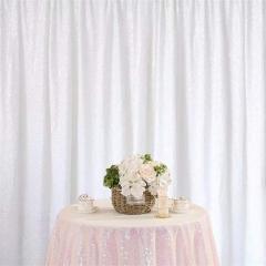 8ftx8ft White Sequin Backdrop