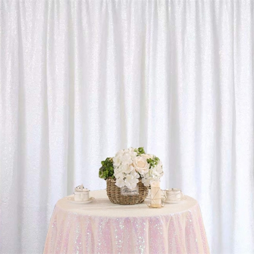 8ftx8ft White Sequin Backdrop