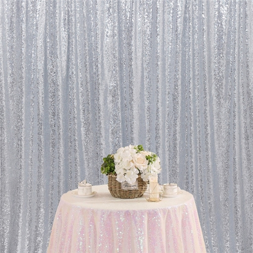 8ftx8ft Silver Sequin Backdrop