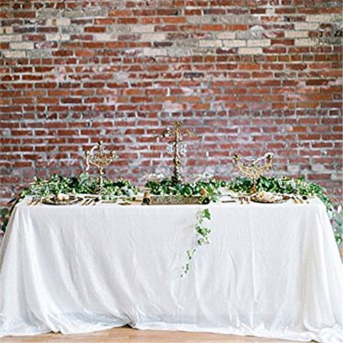 "Sequin Tablecloth 90""X132""White"