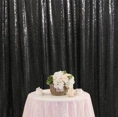 8ftx8ft Black Sequin Backdrop