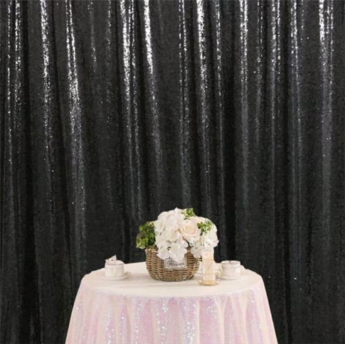 8ftx8ft Black Sequin Backdrop