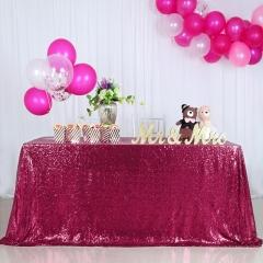 "Sequin Tablecloth 90""X132""Burgundy"