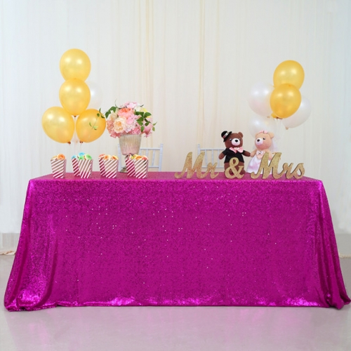 "Sequin Tablecloth 90""X132""Fuchsia"