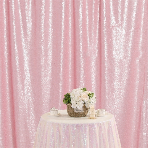 8ftx8ft Pink Sequin Backdrop