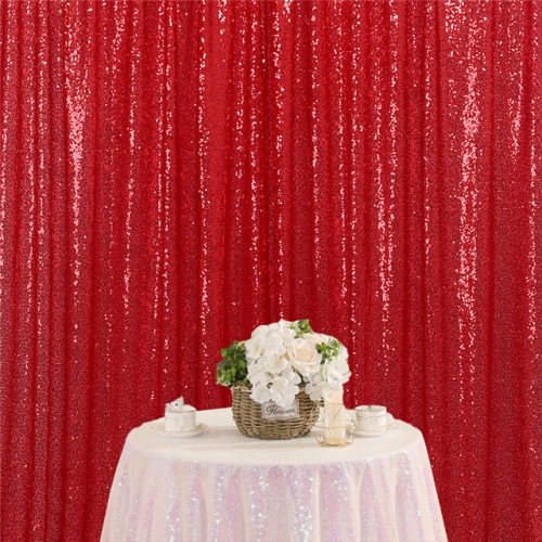 8ftx8ft Red Sequin Backdrop