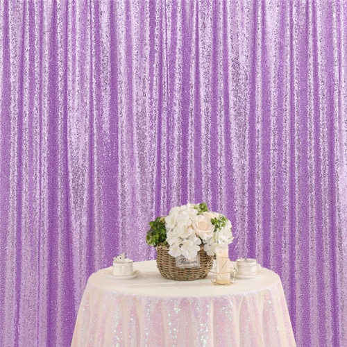 8ftx8ft Light Purple Sequin Backdrop