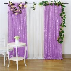 2 Pieces 2ftx8ft Light Purple Sequin Backdrop