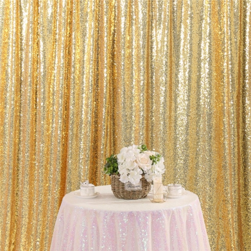 8ftx8ft Gold Sequin Backdrop
