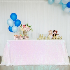 "Sequin Tablecloth 60""X102""Iridescent"