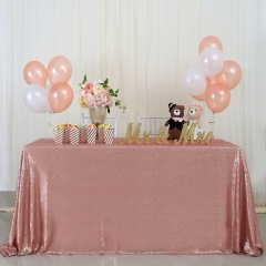 "Sequin Tablecloth 60""X102""Blush"