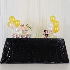 """Sequin Tablecloth 60""""X102""""Black"""