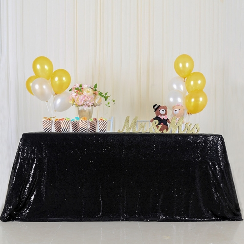 "Sequin Tablecloth 60""X102""Black"