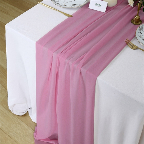 "27""x120"" Violet Chiffon Table Runner"