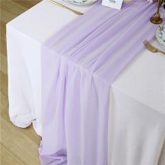 "27""x120"" Light Purple Chiffon Table Runner"