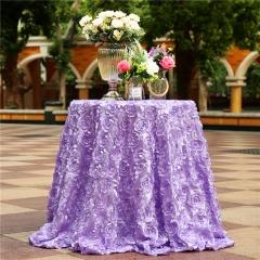 "Rosette Tablecloth Lavender 120""Round"