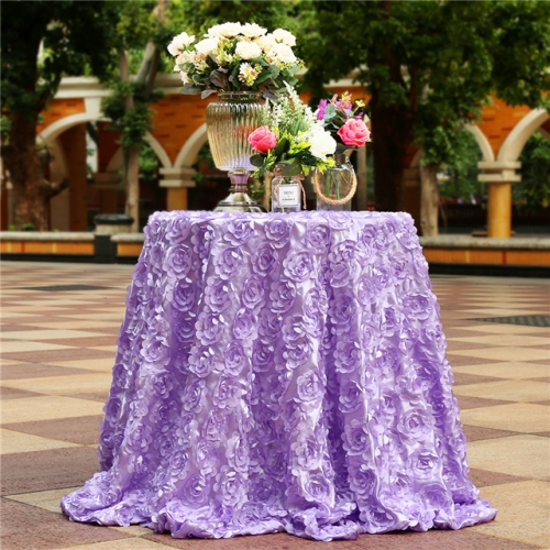 "Rosette Tablecloth Lavender 120""Round"