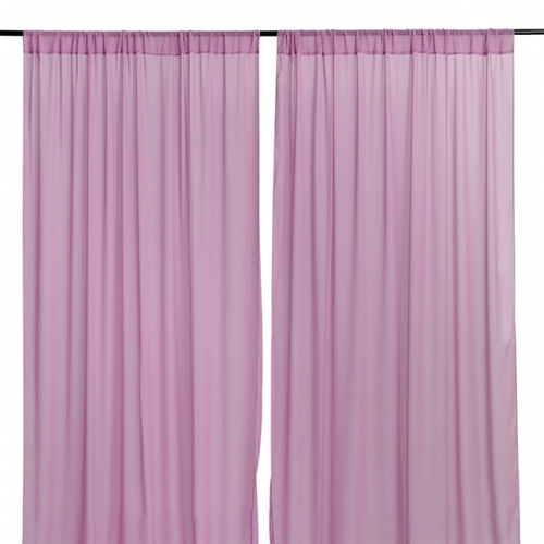 9.8ftx8ft Violet Chiffon Backdrop