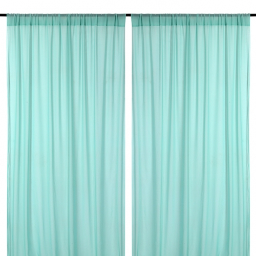 9.8ftx8ft Green Chiffon Backdrop