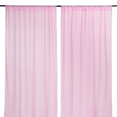 9.8ftx8ft Pink Chiffon Backdrop