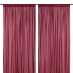 9.8ftx8ft Burgundy Chiffon Backdrop