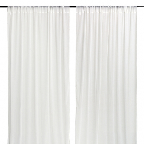 9.8ftx8ft White Chiffon Backdrop