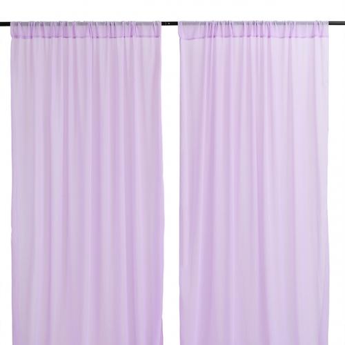 9.8ftx8ft Light Purple Chiffon Backdrop