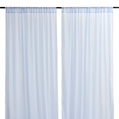 9.8ftx8ft Light Blue Chiffon Backdrop