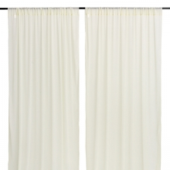 9.8ftx8ft Ivory Chiffon Backdrop