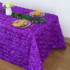 Rosette Tablecloth Purple 90x132""