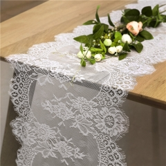 "14""x120"" White Lace Table Runner"