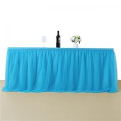 3 Yards Aqua Blue Table Skirt