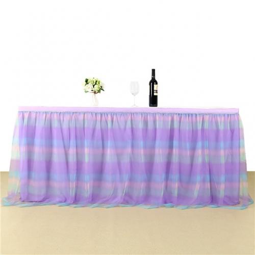 3 Yards Rainbow Purple Table Skirt