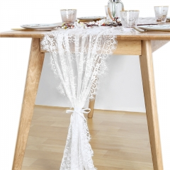 "30""x120"" White Lace Table Runner"