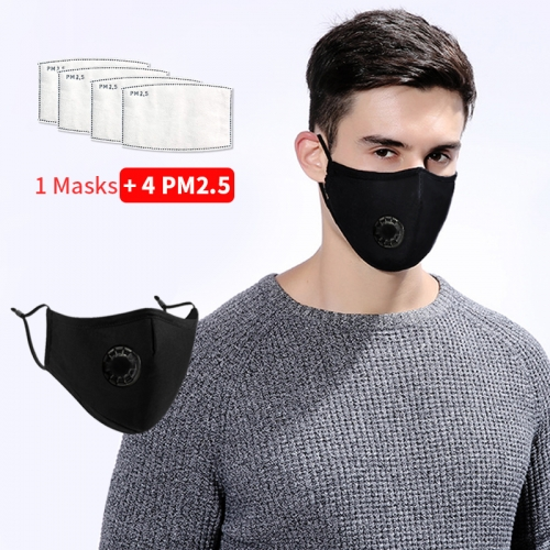 Face Masks Anti-Dust Mouth Mask With Filters Reusable Pollution Mask PM2.5