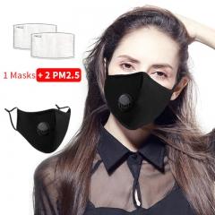 Cotton Mask PM2.5 Filter Mask Filter Masks for Protection Filter Mask Valve Washable