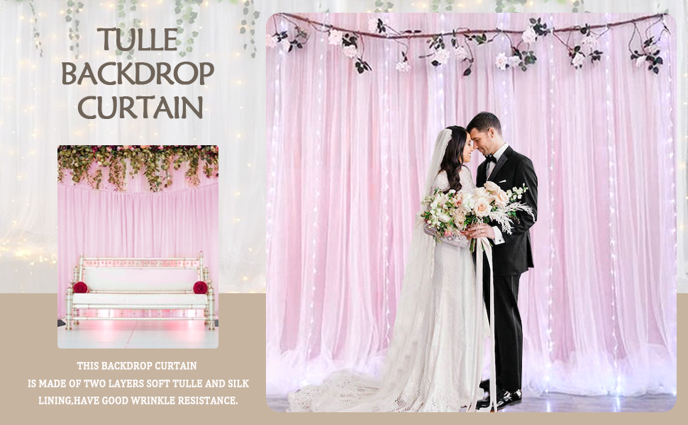 TULLE BACKDROP<br /> WEDDING ARCH