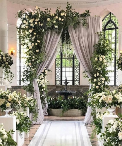 Chiffon Gray Backdrop 2 Pieces 4.9ftx10ft Curtains Photo Backdrop Sheer Chiffon Backdrop Drapes Wedding Party Events Decoration Background