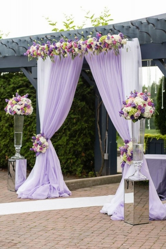 Lilac Chiffon Backdrop Curtain 2 Pieces 4.9ftx10ft Wedding Arch Ceremony Background Baby Shower Backdrop Birthday Party Photo Backdrop