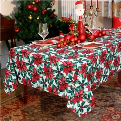 Christmas Tablecloth Red Xmas Table Fabric Holiday Printed Christmas Tablecloth Long Table Cloths