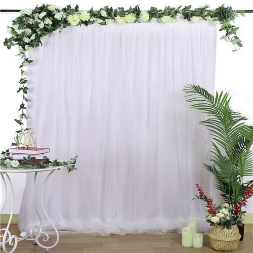 Backdrop 5x7FT Tulle Backdrop Drapes for Holiday Youtobe Tulle Curtain Receptions Wedding Sheer Backdrop Party
